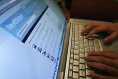 El sitio web Twitter visto en un ordenador portátil en Los Angeles, oct 13 2009. La Casa Real española se unió el miércoles a la red social Twitter con la cuenta @CasaReal, con la que pretende acercar a los usuarios las actividades de la familia. REUTERS/Mario Anzuoni