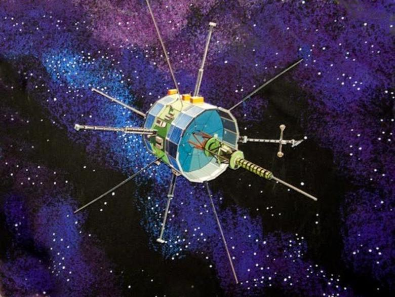 An artist's concept image of NASA's International Sun-Earth Explorer-3 ISEE-3 (ICE) spacecraft.   REUTERS/NASA