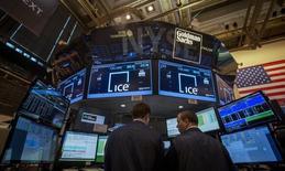 La Bourse américaine ICE ( Intercontinentalexchange group) a lancé mardi le processus d'introduction en Bourse de la Bourse paneuropéenne Euronext à Paris, Amsterdam, Bruxelles, puis Lisbonne. /Photo d'archives/REUTERS/Brendan McDermid