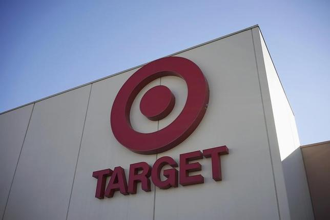 The sign outside the Target store is seen in Arvada, Colorado in this file photo taken January 10, 2014.   REUTERS/Rick Wilking