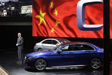 Hubertus Troska, Daimler board member responsible for greater China, attends a world premiere ceremony for the new Mercedes Benz C-Class Long Wheelbase at Auto China 2014 in Beijing, in this April 20, 2014 file picture. REUTERS/Jason Lee/Files