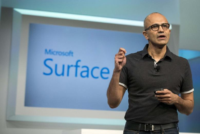 Satya Nadella, Microsoft Corp chief executive, attends the unveil event of the new Microsoft Surface Pro 3 in New York May 20, 2014.  REUTERS/Brendan McDermid