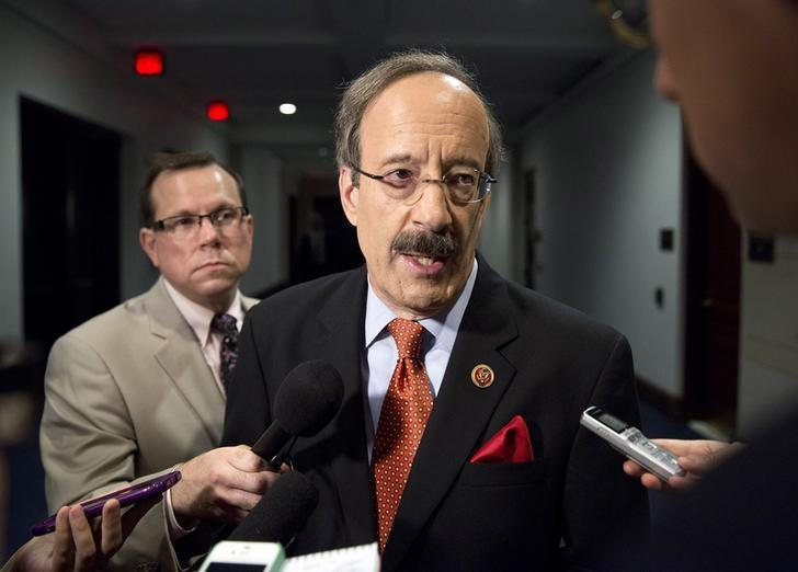 U.S. Representative Eliot Engel (D-NY) speaks to the media before attending a closed meeting for members of Congress on the situation in Syria at the U.S. Capitol in Washington September 1, 2013. REUTERS/Joshua Roberts