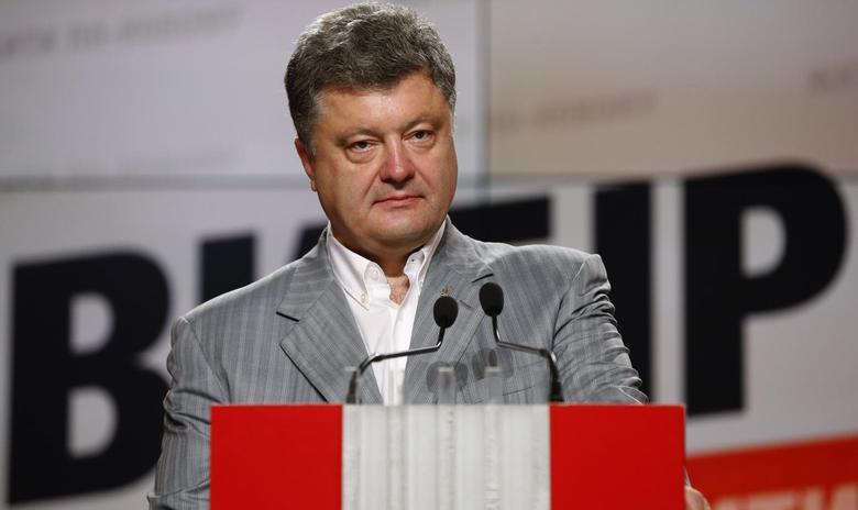 Petro Poroshenko attends a news conference in Kiev, May 26, 2014. REUTERS/David Mdzinarishvili