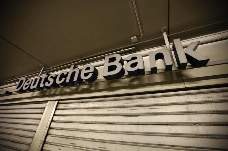 A closed branch of Deutsche Bank is pictured in a parking a parking garage in Bochum May 17, 2013. Picture taken May 17, 2013. REUTERS/Ina Fassbender