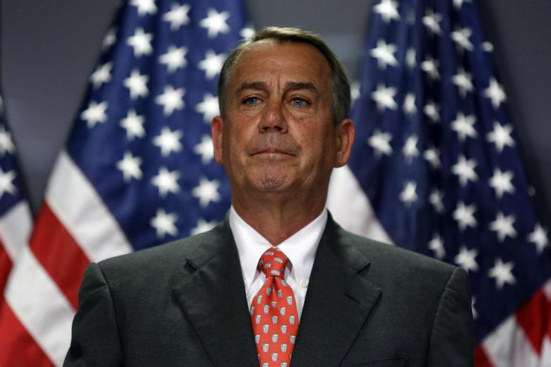 U.S. House Speaker John Boehner (R-OH) holds a news conference after a Republican Party caucus meeting on Capitol Hill in Washington May 20, 2014. REUTERS/Jonathan Ernst
