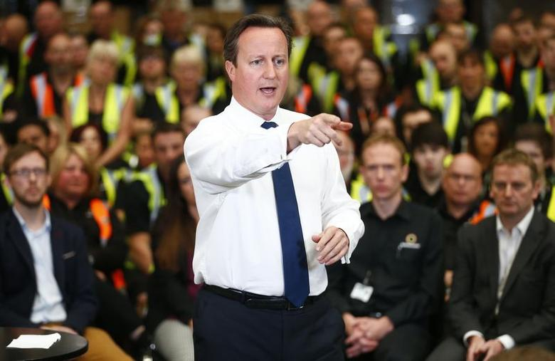 Britain's Prime Minister David Cameron speaks during a question and answer session at an electrical goods warehouse in Newark, central England June 2, 2014.  REUTERS/Andrew Winning