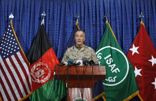 International Security Assistance Force (ISAF) commander General Joseph Dunford speaks during a news conference in Kabul May 28, 2014. REUTERS/Mohammad Ismail