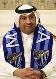 En la imagen, al Thani durante una entrevista en Doha, el 9 de diciembre de 2010.  El propietario del Málaga, Abdullah Al-Thani, anunció en las redes sociales que abandona el equipo de la liga española de fútbol, por lo que considera una falta de apoyo de los organismos públicos regionales a sus planes para desarrollar el club. REUTERS/Mohammed Dabbous