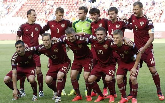 Russia's national football squad in 2014