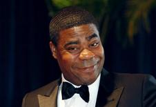 "Comedian Tracy  Morgan from the television series ""30 Rock"" arrives at the White House Correspondents' Association dinner in Washington in this May 1, 2010 file photo.  REUTERS/Richard Clement/Files"