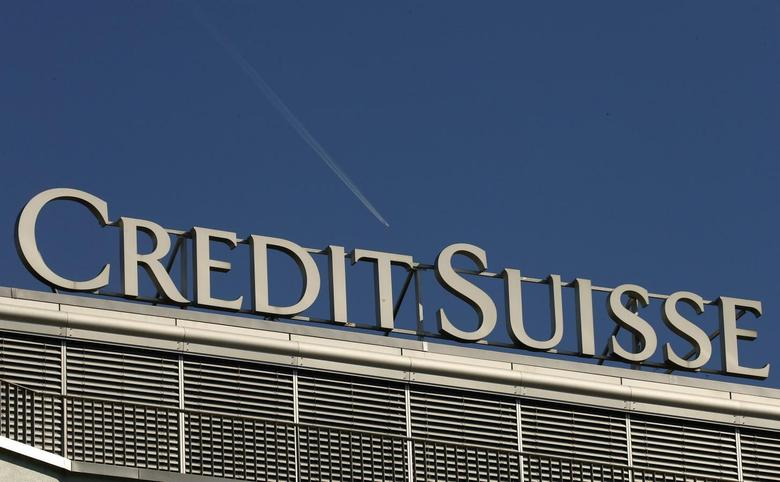 The logo of Swiss bank Credit Suisse is seen on an office building in Zurich May 20, 2014.  REUTERS/Arnd Wiegmann
