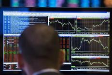 Euronext espère lever jusqu'à 1,16 milliard d'euros dans le cadre de son introduction en Bourse (IPO) prévue le 20 juin et qui devrait valoriser l'opérateur boursier jusqu'à 1,75 milliard d'euros. /Photo d'archives/REUTERS/Lucas Jackson