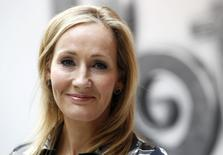 File photograph shows British writer JK Rowling, author of the Harry Potter series of books, posing during the launch of the new online website Pottermore in London June 23, 2011. REUTERS/Suzanne Plunkett/Files