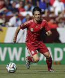Jogador espanhol David Silva durante amistoso pré-Copa contra El Salvador em Landover, no Estado de Maryland, EUA.  7/06/2014. REUTERS/Gary Cameron