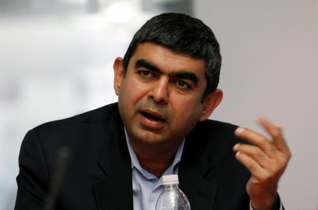 Vishal Sikka, Chief Technology Officer for SAP AG, speaks at the Reuters Global Technology Summit in New York May 21, 2009. REUTERS/Brendan McDermid/Files