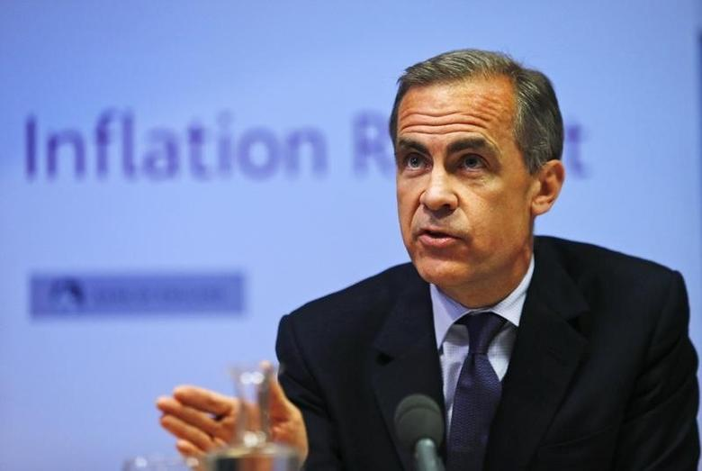 Bank of England governor Mark Carney listens during the bank's quarterly inflation report news conference at the Bank of England in London May 14, 2014.  REUTERS/Lefteris Pitarakis/pool