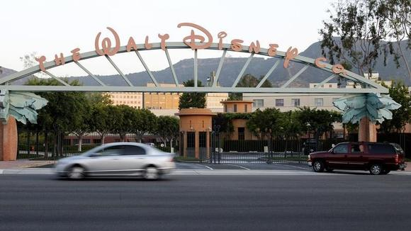 The signage at the main gate of The Walt Disney Co. is pictured in Burbank, California, May 7, 2012.  REUTERS/Fred Prouser/Files