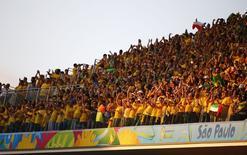Torcedores antes de partida de abertura da Copa do Mundo entre Brasil e Croácia, na Arena Corinthians, em São Paulo. 12/6/2014 REUTERS/Damir Sagolj