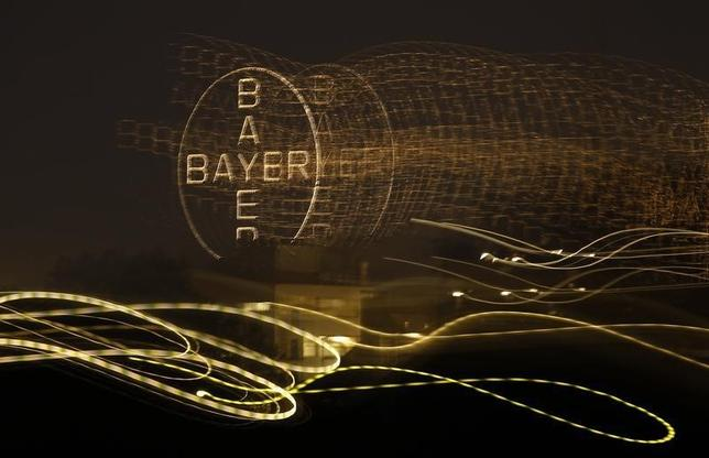 The logo of Germany's largest drugmaker Bayer is pictured in Leverkusen April 26, 2014. REUTERS/Ina Fassbender