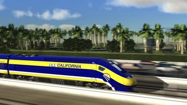 An artist's rendition courtesy of the California High-Speed Rail Authority shows a high speed train passing through Mission Beach, California. REUTERS/California High-Speed Rail Authority/Handout