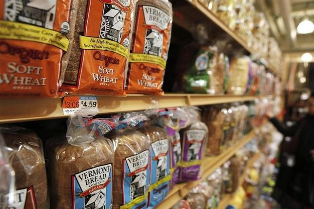 The price of bread is seen on a store shelf in New York April 7, 2011.REUTERS/Lucas Jackson