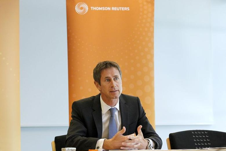 Georg Schubiger, Head of Private Banking, Bank Vontobel, speaks during the Reuters Global Wealth Management Summit in the Thomson Reuters Geneva headquarters, June 16, 2014. REUTERS/Pierre Albouy