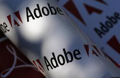 En la imagen, el logo de Abobe en una foto ilustrativa tomada en Viena, el 9 de julio de 2013. Adobe Systems Inc, que vende los software Photoshop y Acrobat, reportó el martes ganancias y ventas trimestrales mejores a las esperadas, gracias a más suscripciones de sus servicios Creative Cloud y Marketing Cloud. REUTERS/Leonhard Foeger