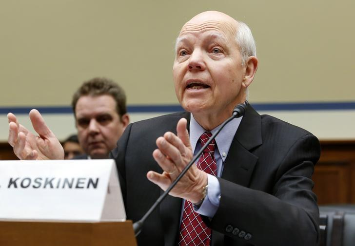 IRS Commissioner John Koskinen testifies before the House Oversight and Government Reform Committee hearing on ''Examining the IRS (Internal Revenue Service) Response to the Targeting Scandal'' on Capitol Hill in Washington March 26, 2014. REUTERS/Yuri Gripas