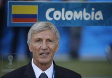 Técnico da Colômbia, José Pekerman, antes de jogo contra a Grécia no Mineirão, em Belo Horizonte. 14/6/2014. REUTERS/Sergio Perez
