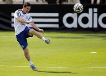 Jogador argentino Lionel Messi durante treino em Vespasiano (MG). 18/6/2014 REUTERS/Sergio Perez