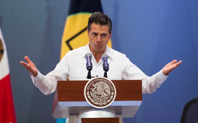 Mexico's President Enrique Pena Nieto speaks during the third Caribbean Community (CARICOM)-Mexico summit in Merida April 29, 2014. REUTERS/Victor Ruiz Garcia