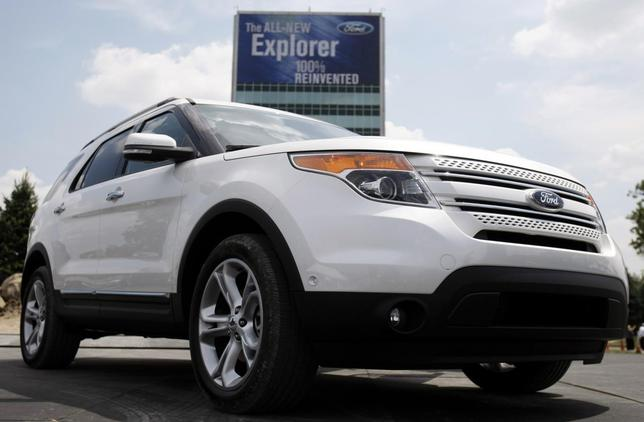 Ford Motor Co unveils the new 2011 Ford Explorer outside the Ford Motor World Headquarters in Dearborn, Michigan in this file photo taken July 26, 2010. REUTERS/Rebecca Cook