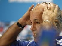 Técnico da seleção argentina, Alejandro Sabella, durante entrevista coletiva em Belo Horizonte. 20/06/2014. REUTERS/Leonhard Foeger