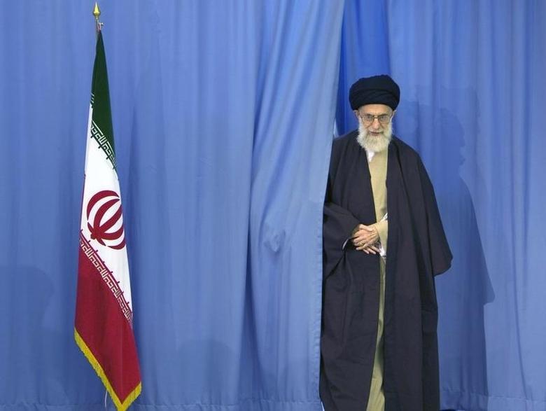 Supreme Leader Ayatollah Ali Khamenei arrives to cast his ballot in Iran's Parliamentary election in Tehran March 14, 2008. REUTERS/Caren Firouz