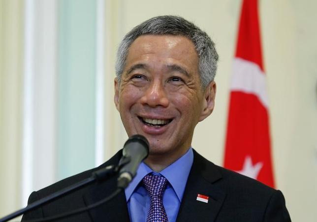6月24日、シンガポールのリー・シェンロン首相は、日本やその近隣諸国が、第2次世界大戦を克服すべきだとの見方を示した。4月撮影(2014年 ロイター/Samsul Said)