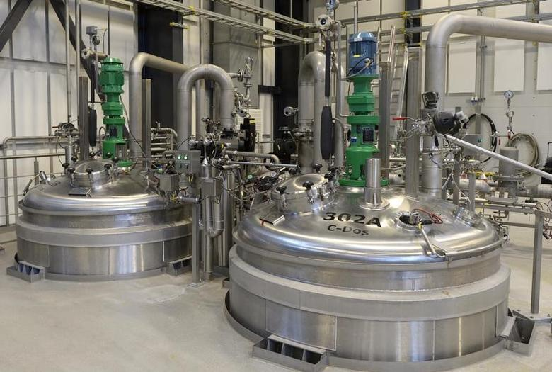 A view shows kettles at an insulin production line in Novo Nordisk's plant in Kalundborg November 4, 2013. Picture taken November 4, 2013. REUTERS/Fabian Bimmer