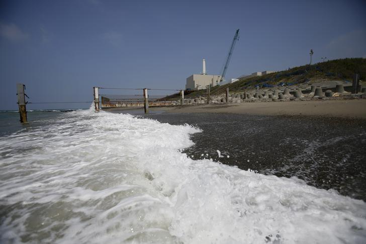 Chubu Electric Power Co.'s Hamaoka Nuclear Power Station is seen from a beach in Omaezaki, Shizuoka Prefecture May 17, 2013.  REUTERS/Toru Hanai