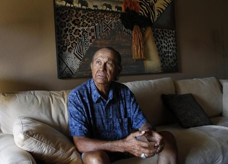 American Indian activist Russell Means poses for a portrait at his home in Scottsdale, Arizona, October 28, 2011.  REUTERS/Joshua Lott