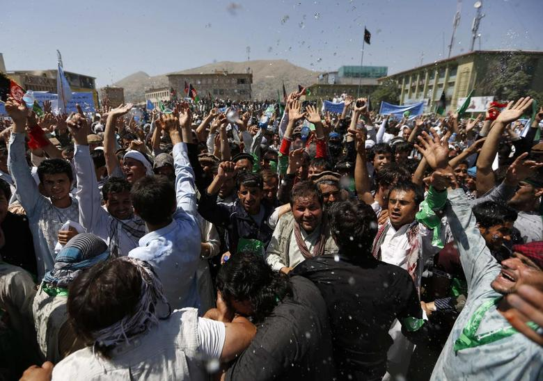 Thousands march across Kabul to protest election fraud