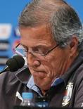 Técnico do Uruguai Oscar Tabárez durante entrevista coletiva no Rio de Janeiro. 27/06/2014   REUTERS/Sergio Moraes