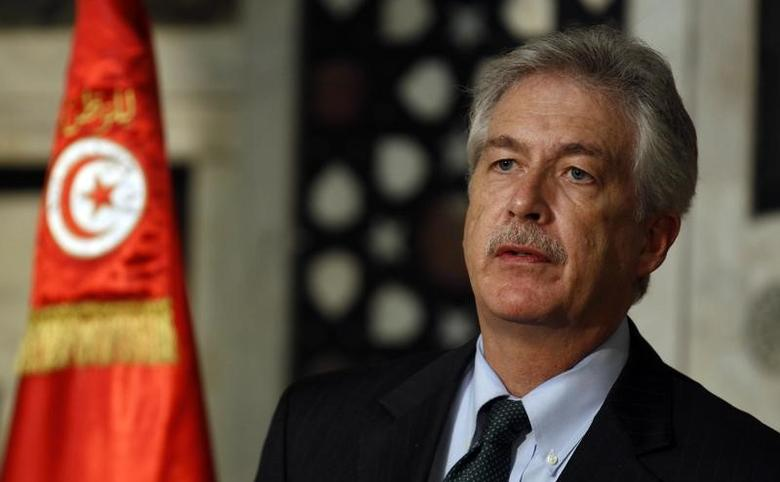 U.S. Deputy Secretary of State Bill Burns addresses a news conference in Tunis February 1, 2014. REUTERS/Zoubeir Souiss