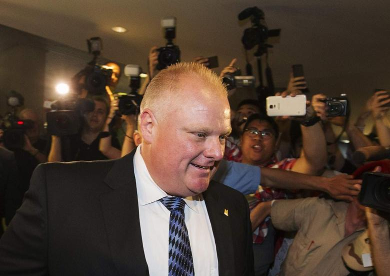 Toronto Mayor Rob Ford arrives at City Hall in Toronto June 30, 2014. REUTERS/Mark Blinch