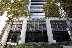 The entrance of a Barclays Bank branch is seen in Dubai in this November 5, 2008 file photo. REUTERS/Ahmed Jadallah/Files