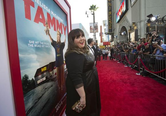 Cast member Melissa McCarthy poses at the premiere of ''Tammy'' at the TCL Chinese theatre in Hollywood, California June 30, 2014.  REUTERS/Mario Anzuoni