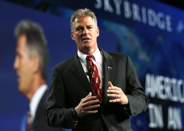 Former U.S. senator Scott Brown speaks at the SALT conference in Las Vegas May 16, 2014.  REUTERS/Rick Wilking