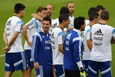 Jogador argentino Lionel Messi durante treino em Belo Horizonte. 2/7/ 2014.  REUTERS/Ivan Alvarado
