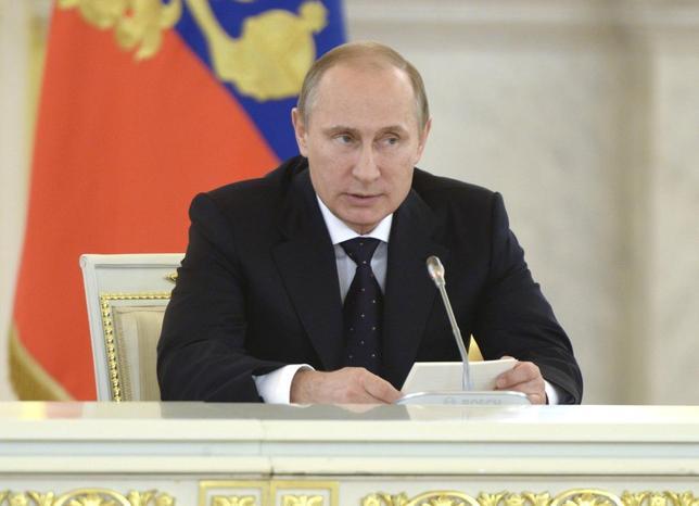 Russian President Vladimir Putin speaks during a meeting of the Presidential Council on Inter-Ethnic Relations in the Kremlin July 3, 2014.REUTERS/Alexei Nikolskiy/RIA Novosti/Kremlin