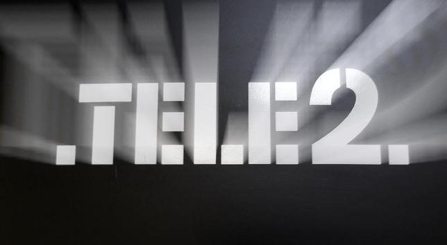 A logo is on display at a Tele2 company's sales office in St. Petersburg, April 2, 2013.  REUTERS/Alexander Demianchuk