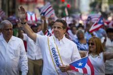 Governor of New York Andrew Cuomo participates in the National Puerto Rican Day Parade on Fifth Avenue in Manhattan, New York June 8, 2014. REUTERS/Andrew Kelly